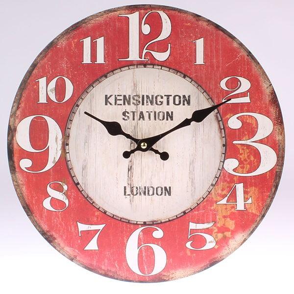 Dřevěné hodiny Kensington Station