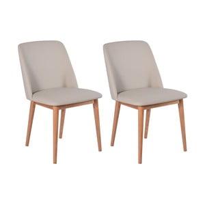 Sada 2 béžových dubových jídelních židlí RGE Perstorp