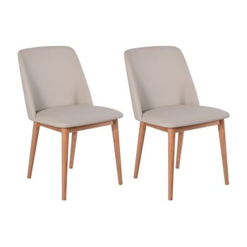Set 2 scaune cu picioare din lemn de stejar RGE Perstorp, bej