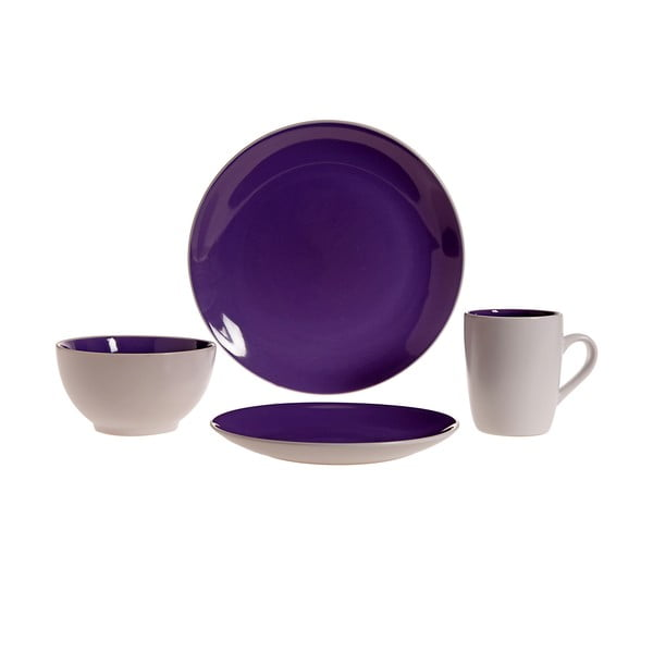 Sada nádobí Lucca Purple, 16 ks