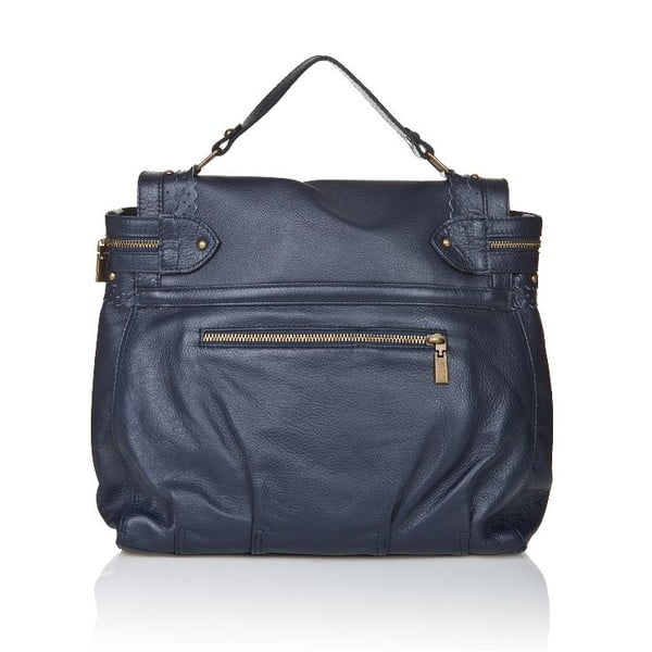 Kožená kabelka Markese 6403 Blue