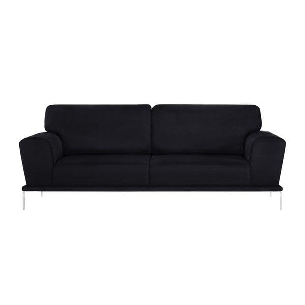 Canapea cu 3 locuri L'Officiel Kendall, negru