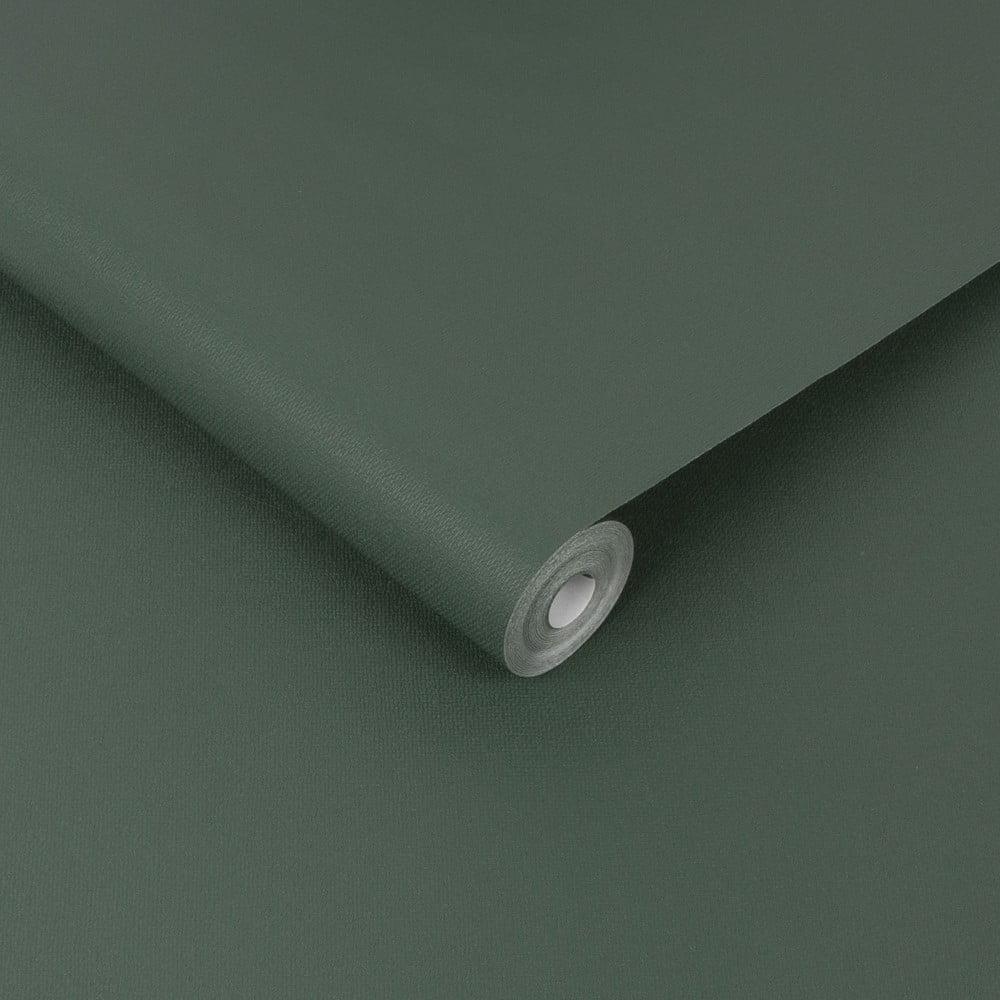 Tmavě zelená nástěnná tapeta Graham & Brown Uni Elegant, 0,52x10m
