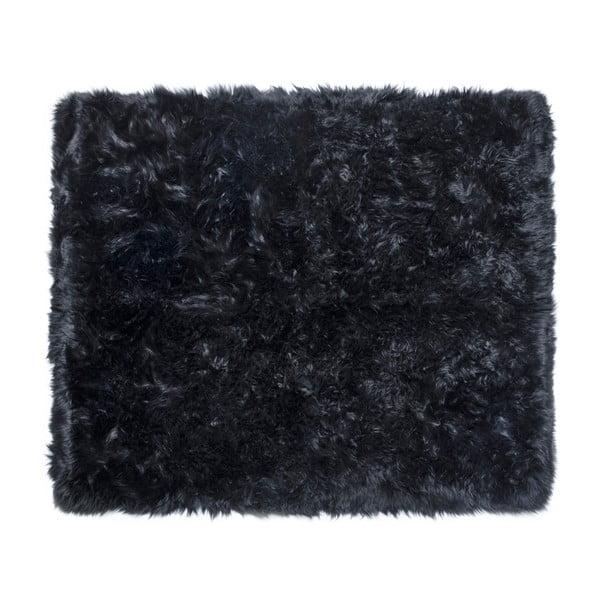 Zealand Sheep fekete bárányszőrme szőnyeg, 130 x 150 cm - Royal Dream