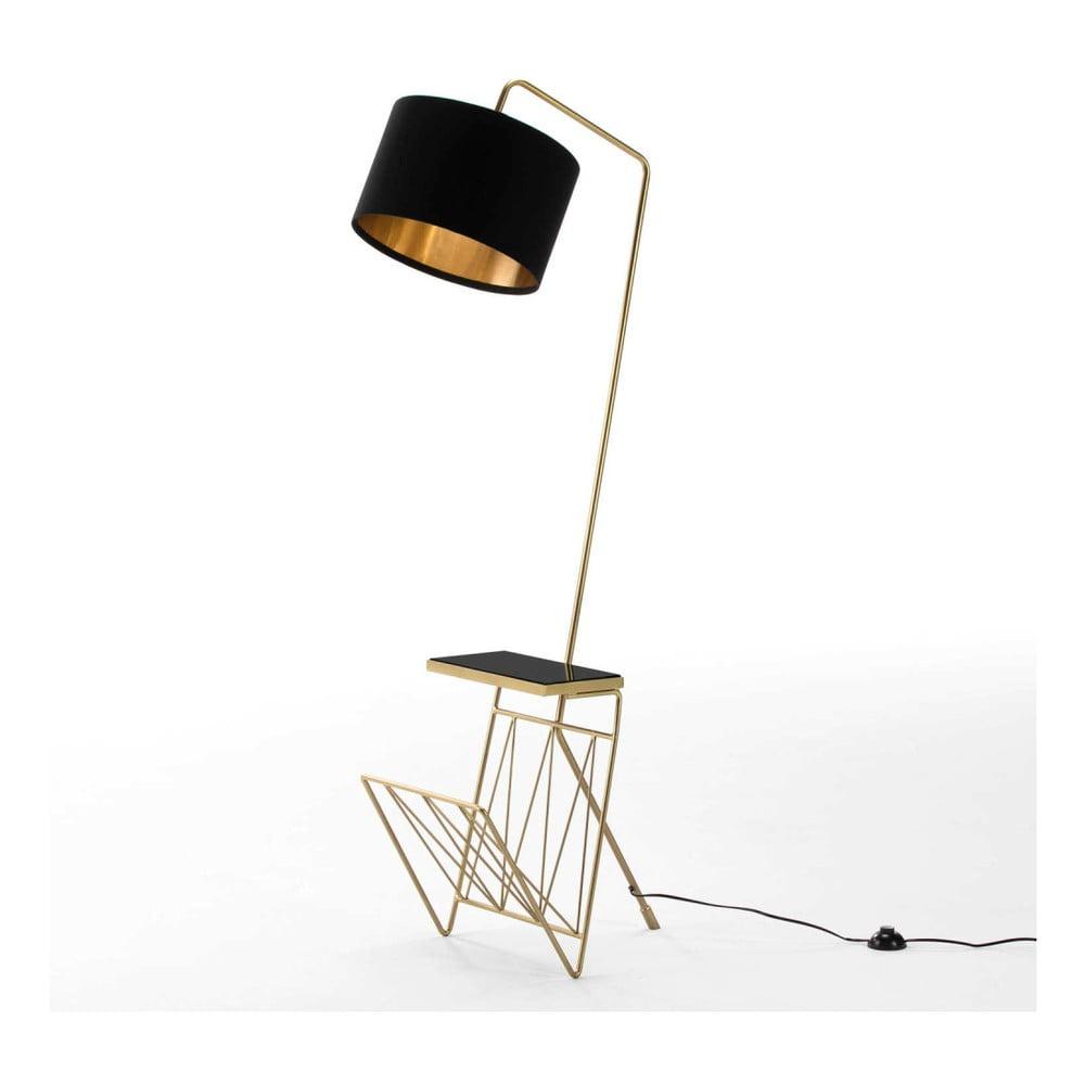 Volně stojící lampa se stínítkem z kovu a mramoru Thai Natura Excelsior