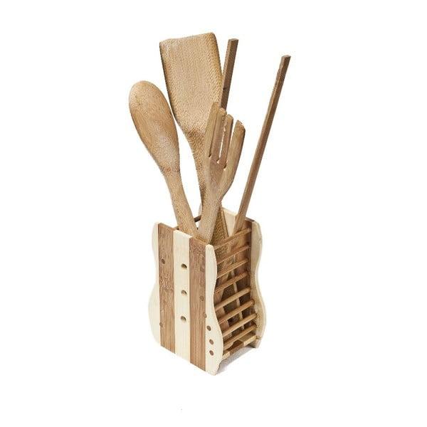 Set 4 nástrojů se stojanem Bamboo