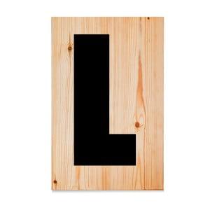 Dřevěná cedule Letters L