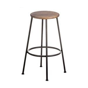 Barová židle se sedákem z ořechového dřeva indhouse Max