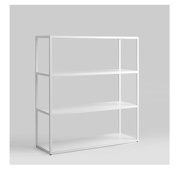 Bílá knihovna Custom Form Hyllermetal, výška110cm