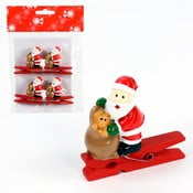 Set 4 cârlige decorative Unimasa Santa Claus