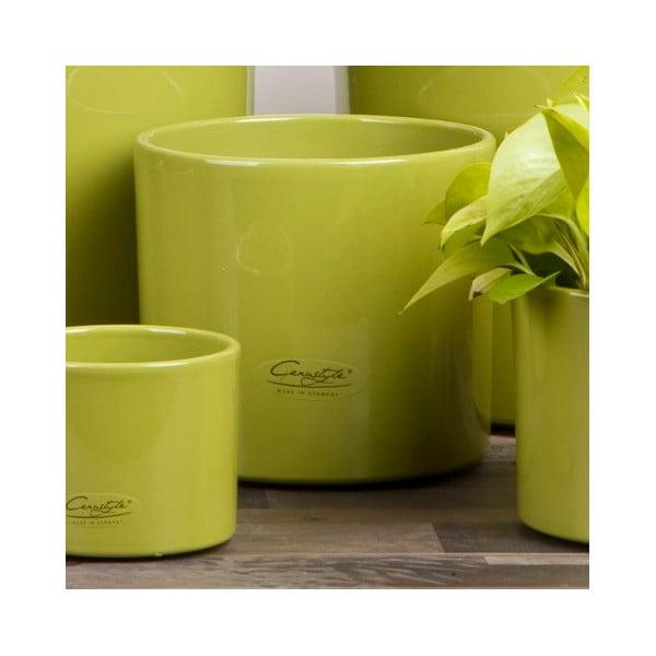 Sada 2 zelených květináčů Ovale, 15 cm