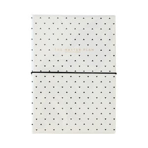 Koženkový zápisník s blokem na úkoly a propiskou Alice Scott by Portico Designs