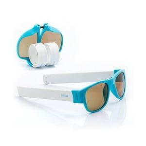 Modro-bílé sluneční srolovatelné brýle InnovaGoods Sunfold PA2