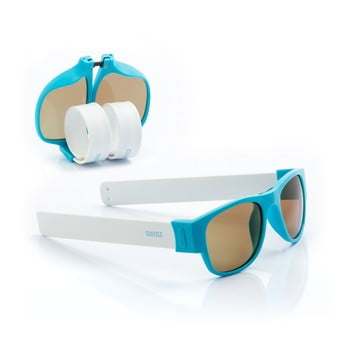 Ochelari de soare pliabili InnovaGoods Sunfold PA2, albastru - alb de la InnovaGoods