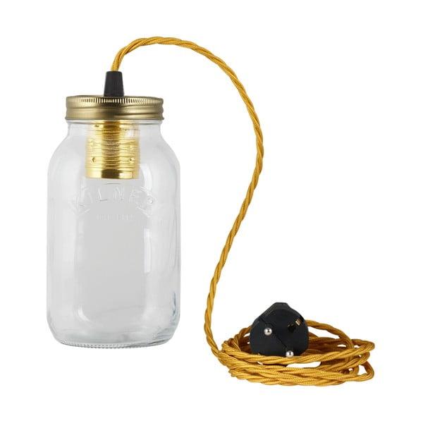 Svítidlo JamJar Lights, zlatý kroucený kabel