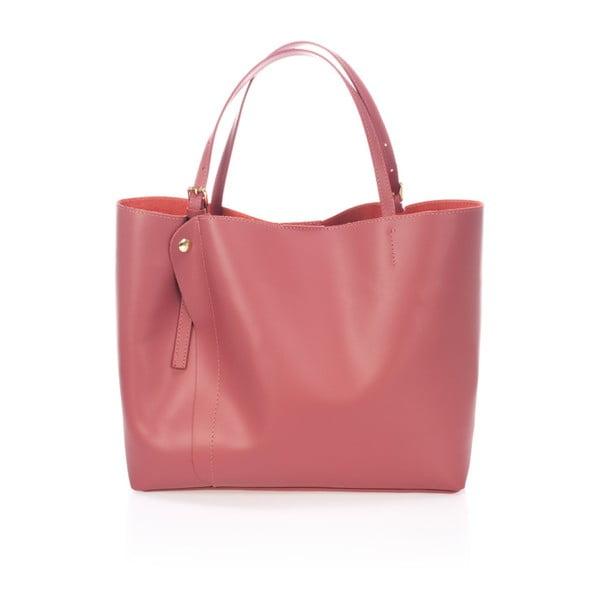 Różowa torebka skórzana Lisa Minardi Eunice