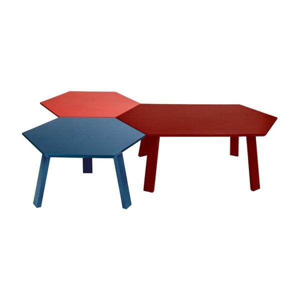 Konferenční stolek Hexagon Red, 105x37x61 cm
