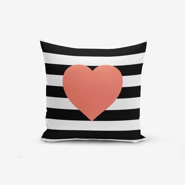 Poszewka na poduszkę z domieszką bawełny Minimalist Cushion Covers Striped Pomegrate, 45x45 cm