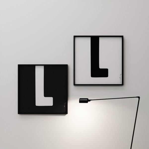 Plakát Litera L, 50x50 cm