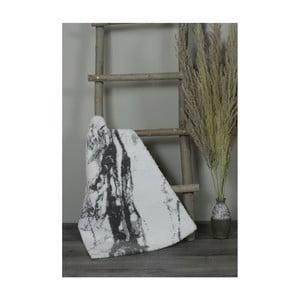 Bílo-šedá bavlněná koupelnová předložka My Home Plus Sensation, 51 x 76 cm