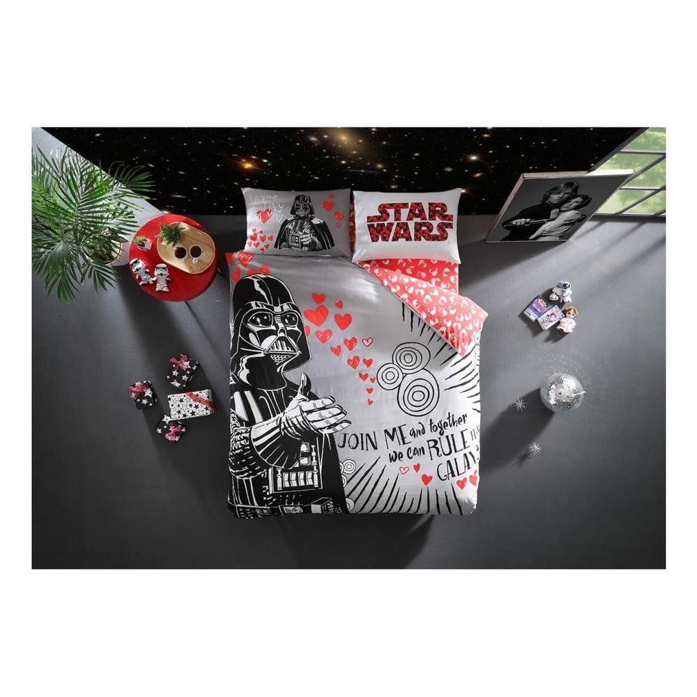 Set bavlněného povlečení na dvoulůžko s prostěradlem Lovely Darth Licensed, 200 x 220 cm
