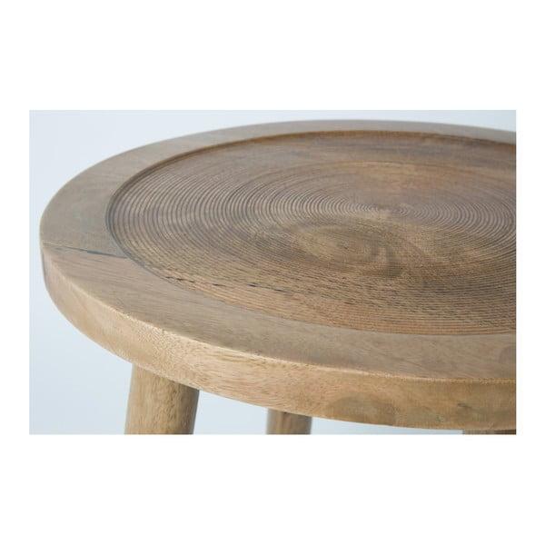 Măsuță din lemn de mango Zuiver Dendron, Ø43cm