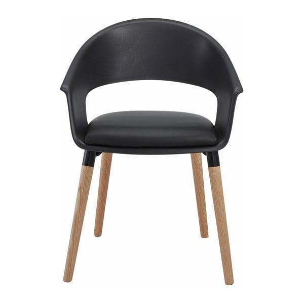 Sada 2 čiernych stoličiek Støraa Alto