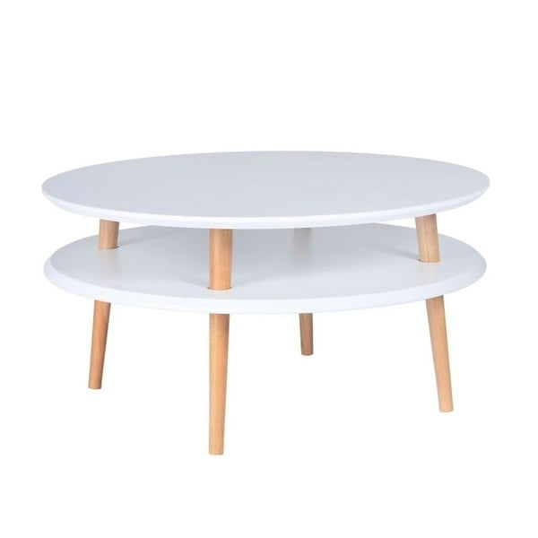 Konferenční stolek UFO 35x70 cm, bílý