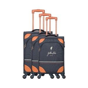 Sada 3 šedých cestovních kufrů na kolečkách GENTLEMAN FARMER Trippy
