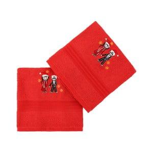 Sada 2 červených ručníků Cift, 50x90cm