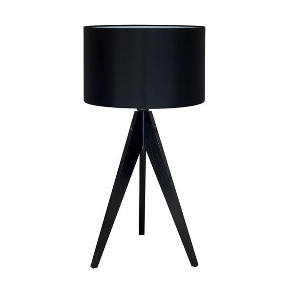 Černá stolní lampa 4room Artist, černá lakovaná bříza, Ø 33 cm