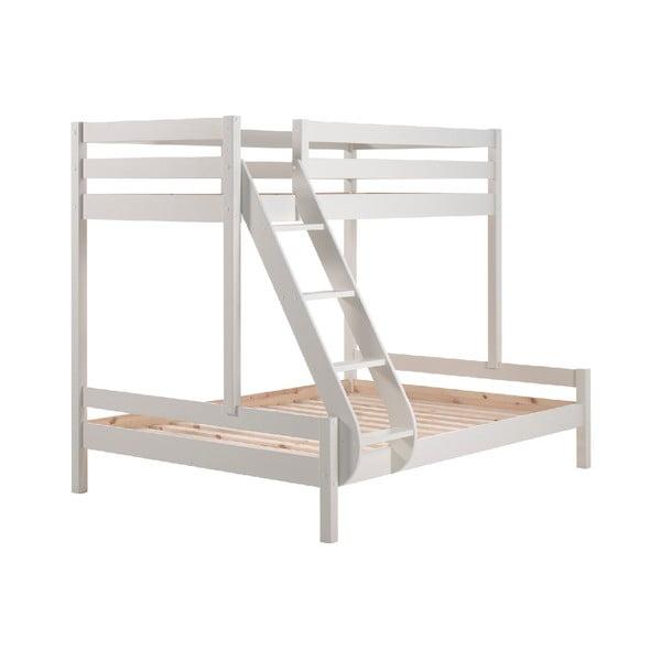 Białe rodzinne łóżko piętrowe Vipack Pino Martin