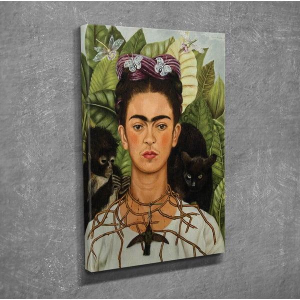 Vászon fali kép Frida Kahlo másolat, 30 x 40 cm