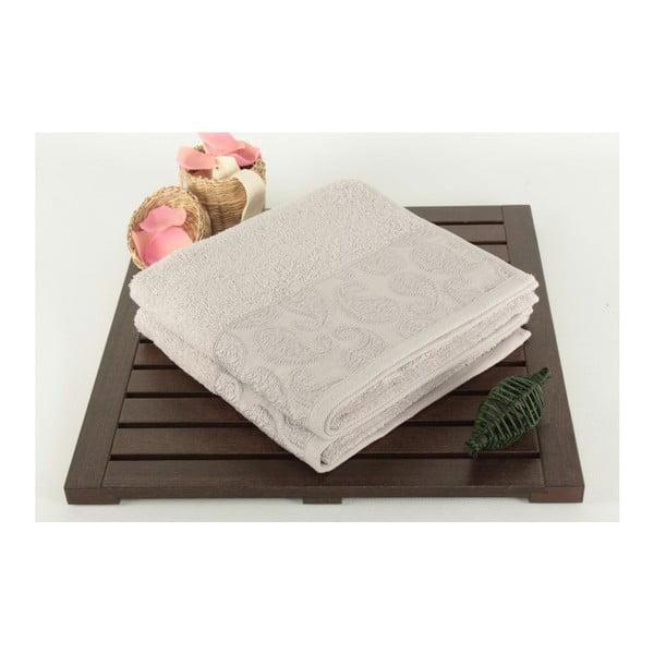 Zestaw 2 szarych ręczników ze 100% bawełny Sal, 50x90 cm