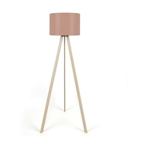 Aiden állólámpa, világos rózsaszín lámpabúrával