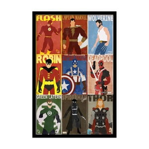 Plakát Hero Team, 35x30 cm