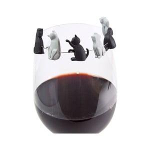 Rozlišovače na skleničku Gift Republic Meow