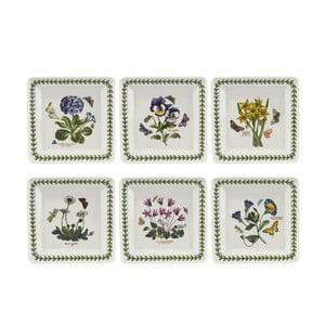 Sada 6 ks čtvercových talířů z porcelánu Portmeirion