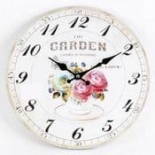 Dřevěné hodiny Flowers I, 34 cm
