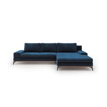 Canapea extensibilă tip colțar cu șezlong pe partea dreaptă Windsor & Co Sofas Astre, albastru de la Windsor & Co Sofas