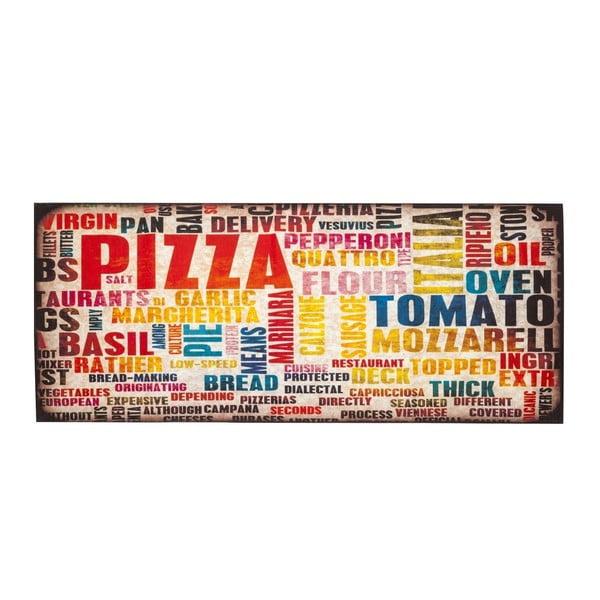 Covor pentru bucătărie foarte rezistent Floorita Pizza, 60x220cm