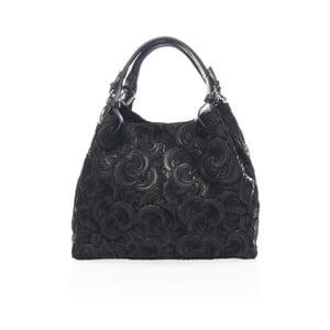 Černá kožená kabelka Massimo Castelli Eriberti
