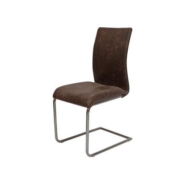 Hnědá jídelní židle Canett Clipper