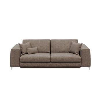 Canapea extensibilă cu 3 locuri devichy Rothe bej închis