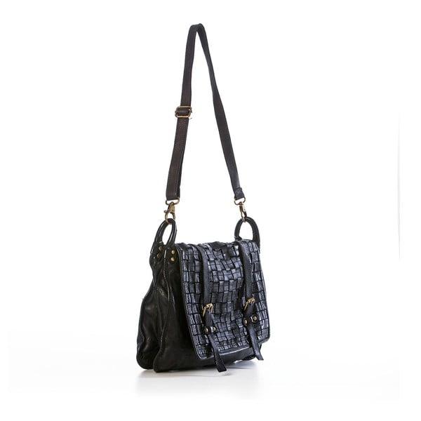 Černá kožená kabelka Federica Bassi Octans