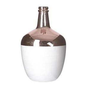 Skleněná váza White Copper