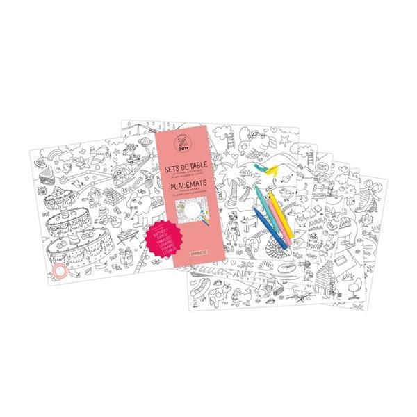 Prostírání omalovánky pro děti Fantastic, 24 ks
