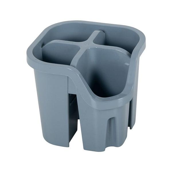 Šedý odkapávač na příbory z recyklovaného plastu Addis Eco Range