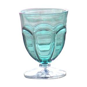 Sada 6 modrých plastových sklenic na vodu Sunvibes Happy, 250 ml