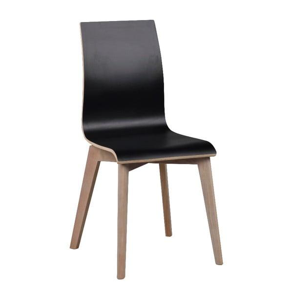 Černá jídelní židle se světle šedými nohami Rowico Grace